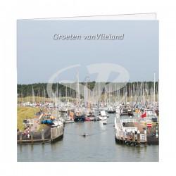 Wenskaart Havenmond Jachthaven Vlieland