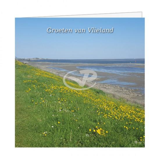 Wenskaart Waddendijk Vlieland in bloei