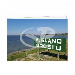 Wenskaart A6 Vlieland Groet U