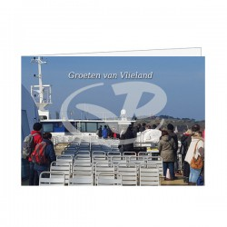 Wenskaart A6 Vlieland vanaf de Veerboot