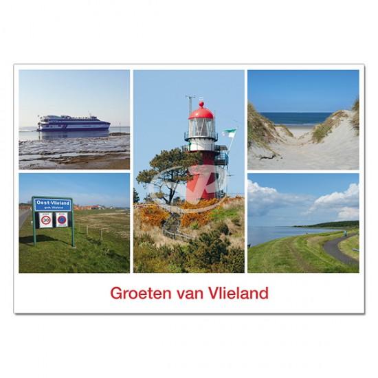 Ansichtkaart A6 Vlieland Vuurtoren Compilatie