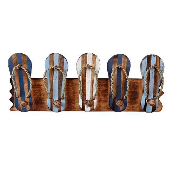 Kapstok Slippers met 5 ophanghaken