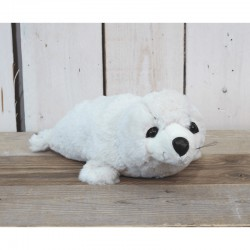 Pluche zeehond liggend creme 35cm