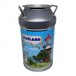 Spaarpot Melkbus Vlieland gevuld met Zoete Muntendrop