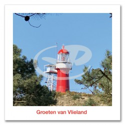 Ansichtkaart 15x15 Vuurtoren Vlieland