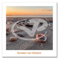 Ansichtkaart 15x15 Schelpen Op Strand Vlieland