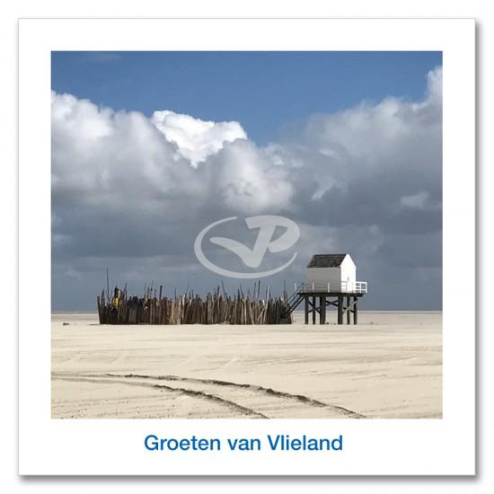 Ansichtkaart 15x15 Reddingshuisje Vlieland