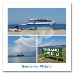 Ansichtkaart 15x15 Veerboot Vlieland Compilatie