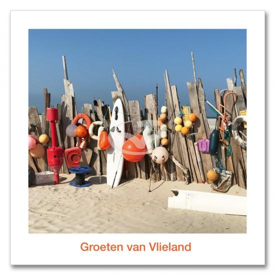 Ansichtkaart 15x15 Jutschutting Vliehors Vlieland