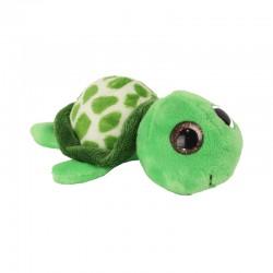 Pluche Schildpad met Glitter Ogen 11,5cm.